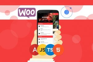 Ionic 3 Apps for WooCommerce: Build an eCommerce Mobile App Course Build an eCommerce Mobile App from start to end using Ionic Framework 3 and WooCommerce using HTML, SCSS, and TypeScript.